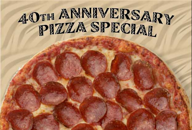Anniversary Pizza Special Johnstown